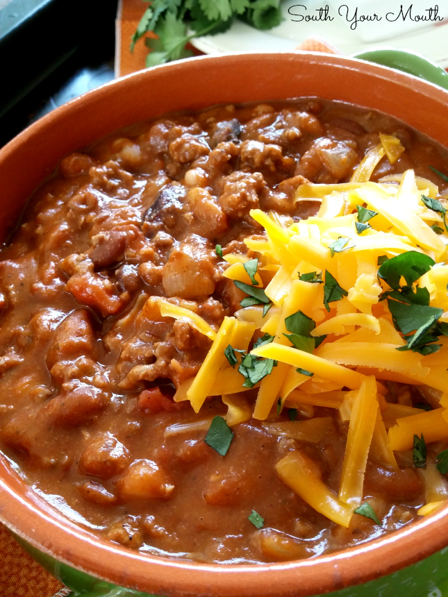 BIG BATCH Beef & Bean Chili!