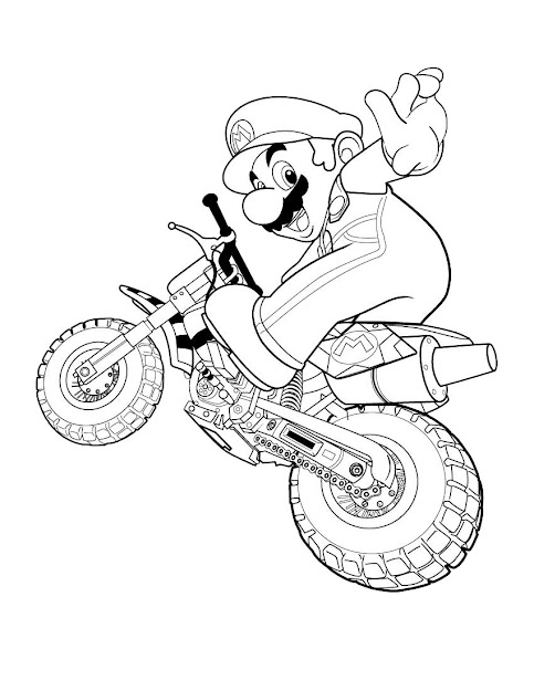 Mario Bros Coloring Pages To Print