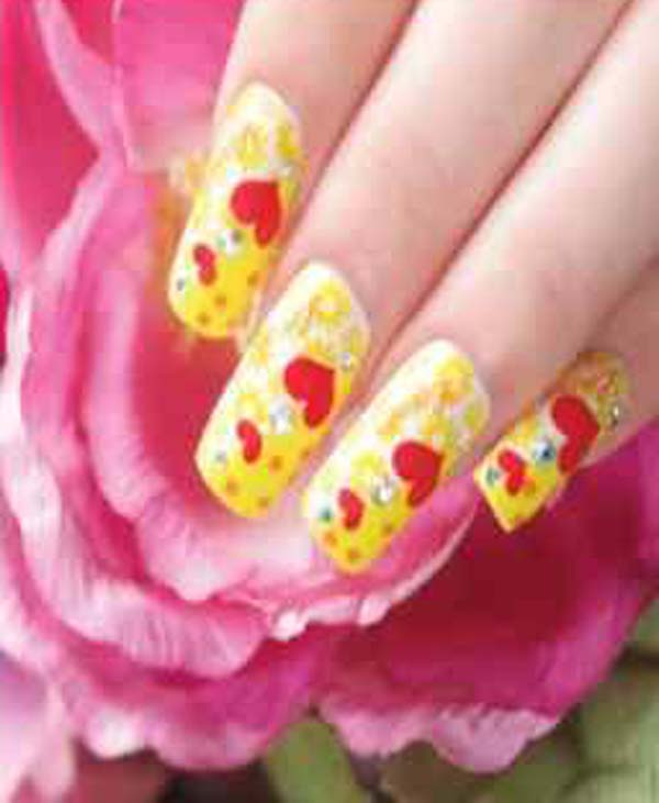 Love Nail Art Designs Gallery: Pink Love Nail Art Designs