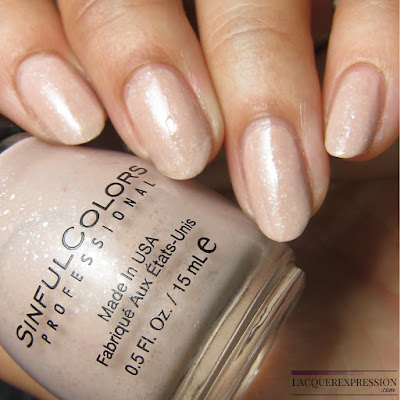nail polish swatch of Just Desert by Sinful Colors sinfulcolors