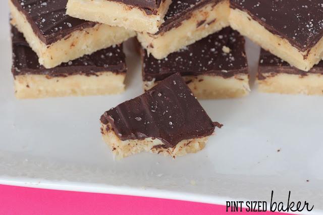 Shortbread, caramel, dulce de leche, chocolate, salt, pintsizedbaker.com