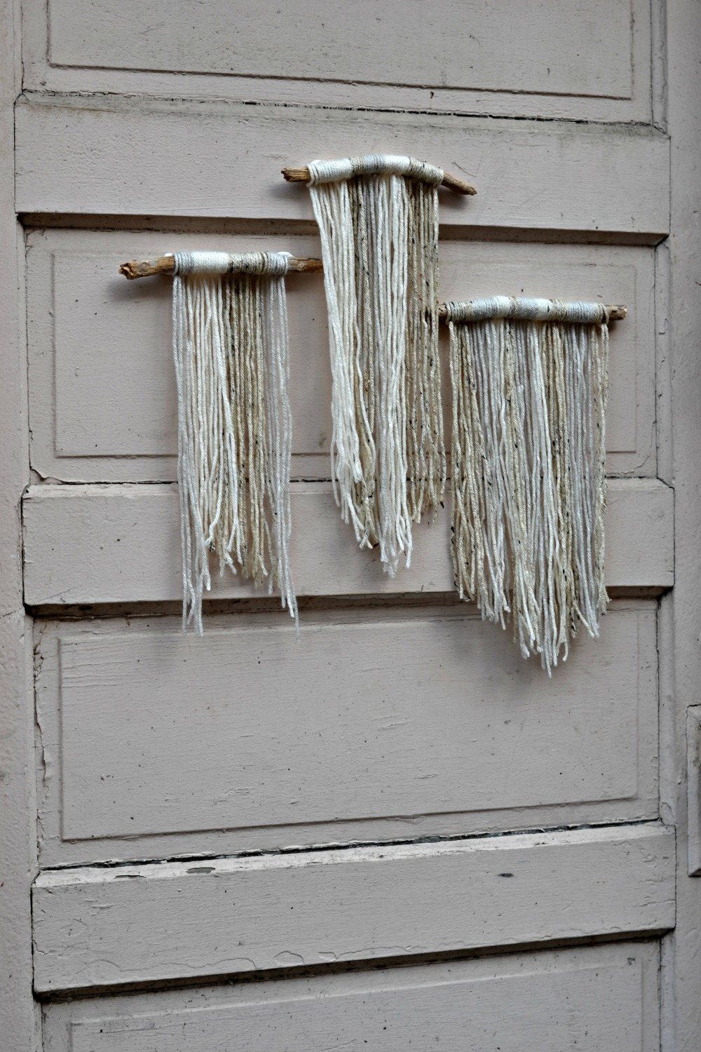 Basic Diy Yarn And Driftwood Macrame Wall Hanging For