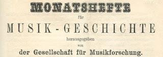Monatshefte für Musik-Geschichte. XXXV. Jahrg., Leipzig 1903
