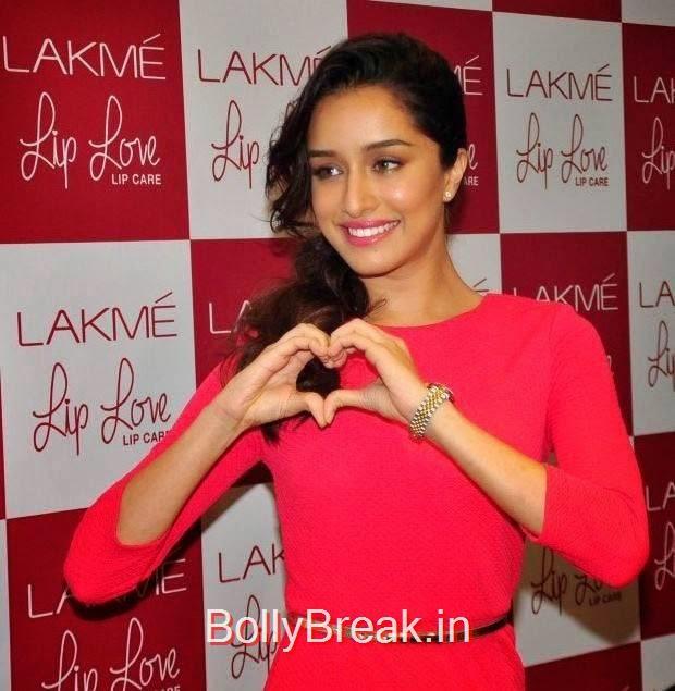 Shraddha Kapoor Stills, Hot Pics Of Shraddha Kapoor in red dress from LAKME Event