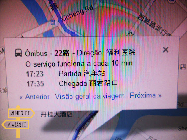 Usando o Google Maps na China