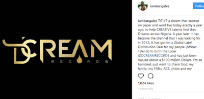 'My company has just been valued at over $100million - D'banj reveals