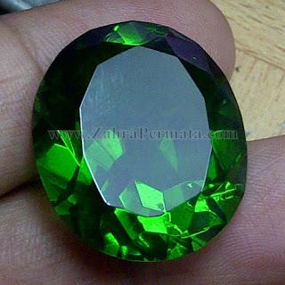 Batu Permata Green Tektite - ZP 1017