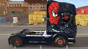 Spiderman Scania R updated skin