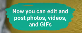 WhatsApp Edit and Post Photo, Videos and GIFs
