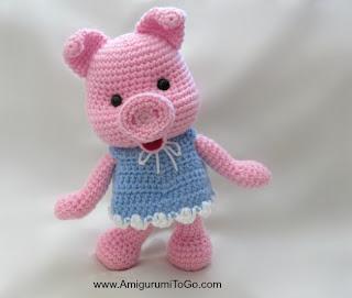 Amigurumi To Go Crochet Along Pig : Dress Up Pigs Free Pattern ~ Amigurumi To Go