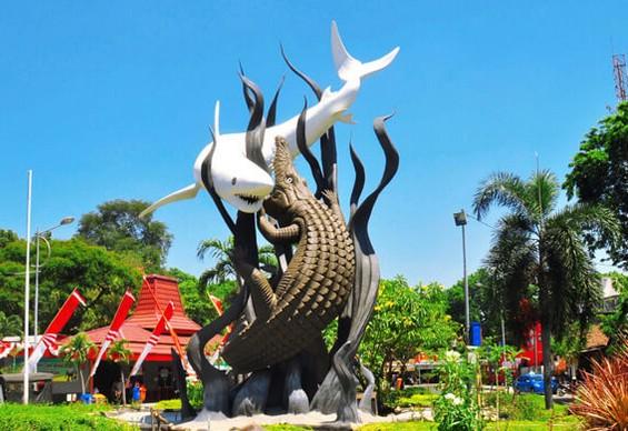Pesona Keindahan Wisata Patung Sura dan Buaya di Surabaya
