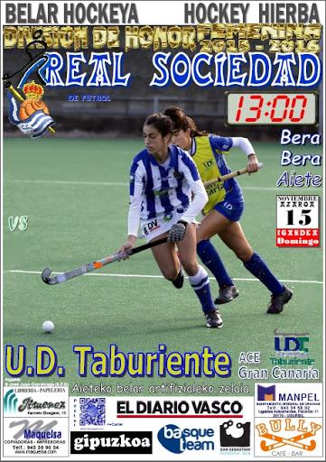Cartel hockey 2015-11-15 Real Sociedad - U. D. Taburiente
