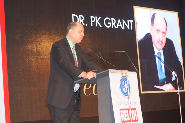 Dr. PK Grant awarded for his contribution in Medicine at URJA Awards in association with Hello!