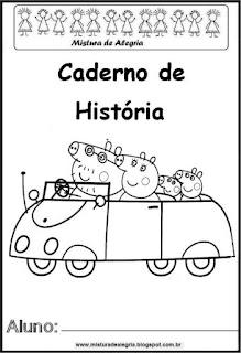 Capa caderno para história