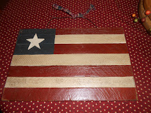 "7 LATH - 15 1/2"" WOODEN AMERICAN HANGING FLAG"