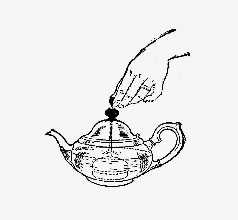 Digital Stamp Design Free Teapot Digital Stamp Vintage