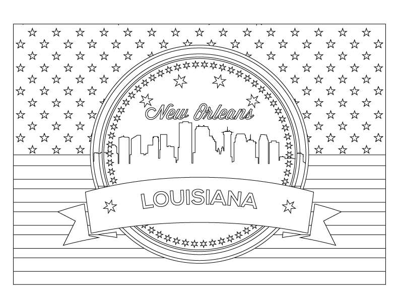new orleans coloring pages - photo#2