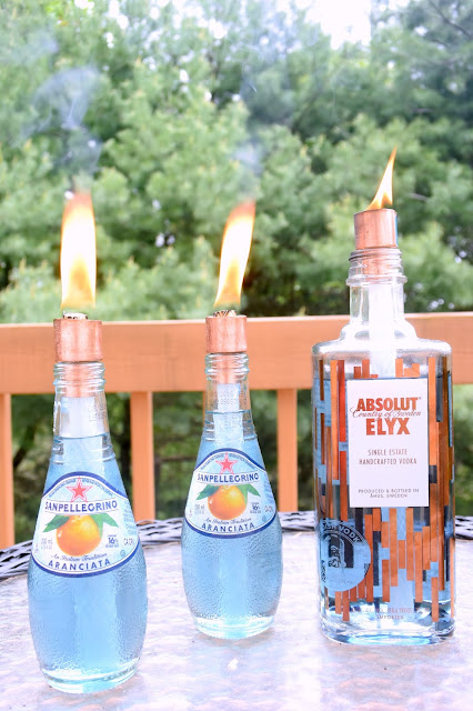 EAT+SLEEP+MAKE: Beverage Bottle Citronella Torches
