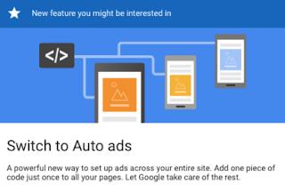 Cara Memasang Fitur Auto Ads Adsense di blogspot