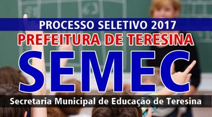 concurso SEMEC Teresina PI 2017