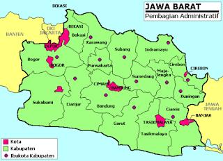 Peta Propinsi Jawa Barat