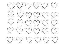 Hearts, Valentines day, craft, downloadable, colouring,