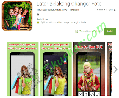 Aplikasi yang bisa mengubah background foto di android