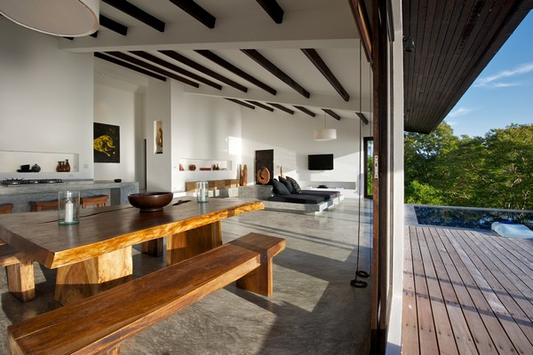 Hogares Frescos Dise 241 O Moderno Tropical Mezclado Con