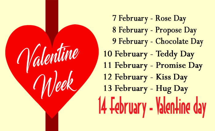 Valentine week list 2017 date sheet image & days meaning