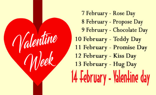 Valentine week list 2018 date sheet image & days meaning