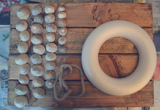 DIY December #2 - Beach Inspired Shell Wreath