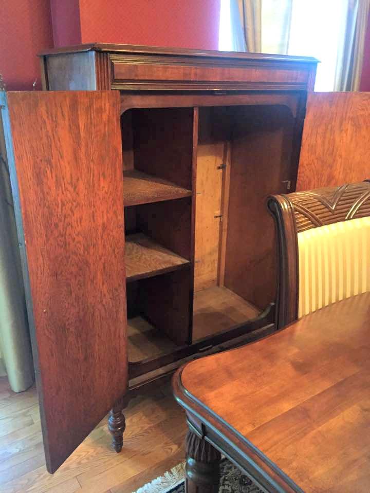 Original shelves inside of chifferobe.