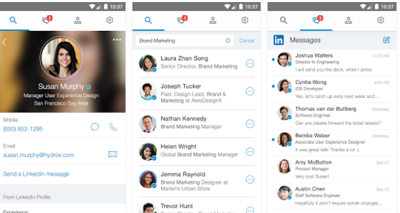 Linkedin LookUp Android App