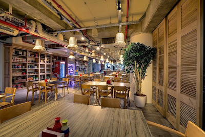 Decoración de interior de oficinas de Google en Tel aviv