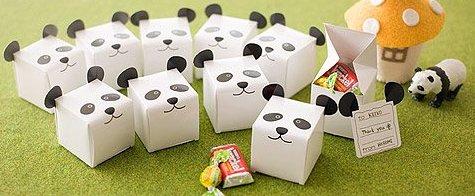 DIY Panda Cube Box with Free Printables.