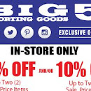 picture relating to Big 5 Sporting Goods Printable Coupon known as Low cost Sneakers Retail outlet