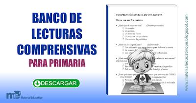 Banco de lecturas comprensivas para primaria