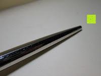 schlecht poliert: Kugelschreiber Bow Aluminium silber Ständer