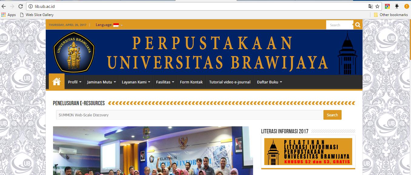 Mencari Jurnal Di Universitas Brawijaya