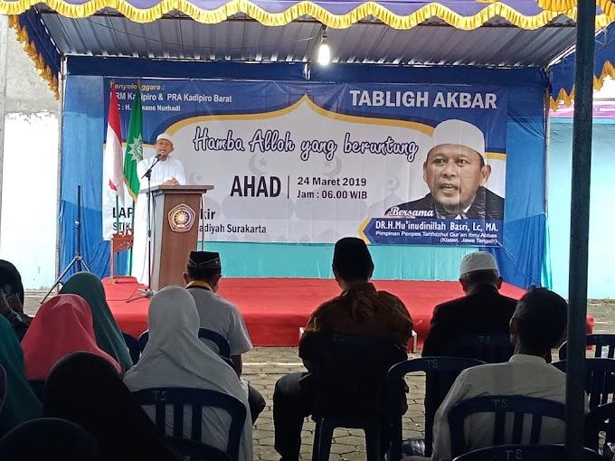 Yakinkan Wilayahnya Aman, Babinsa Kadipiro Terjun Langsung Amankan Pengajian Tabligh Akbar