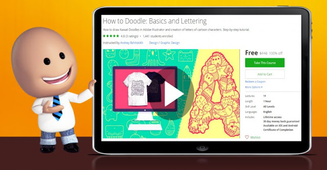 [100% Off] How to Doodle: Basics and Lettering| Worth 110$
