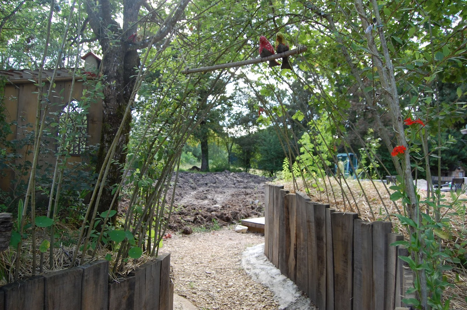 cloison bois jardin