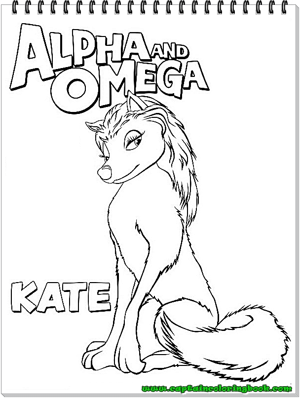 Alpha And Omega Coloring Pages Coloring Page