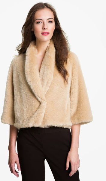 Faux Fur Crop Jacket For Women