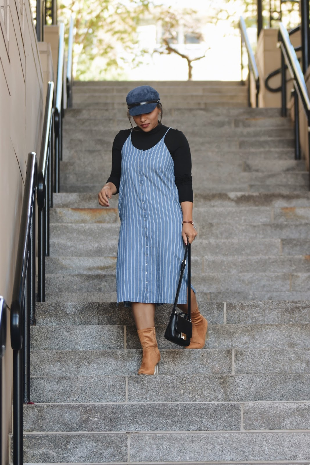 shop maude, pinstripe, fall fashion, cabbie hat, fall boots, fall outfit ideas, pinstripe dress, dc bloggers, cabbie hat trend, fall dresses