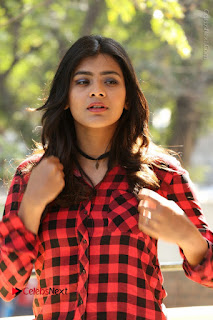 Actress Hebah Patel Stills in Blue Denim Jeans at Nanna Nenu Naa Boyfriends Movie Success Meet  0021.JPG