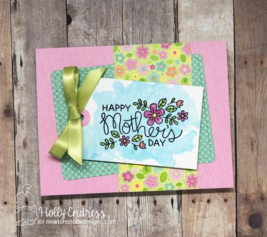 Happy Mother's Day Card by Holly Endress | Mother's Day Stamp Set by Newton's Nook Designs #newtonsnook #handmade