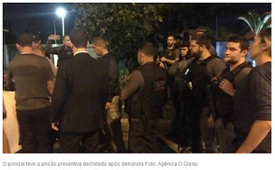 Imagem de prisão do PM suspeito dos assassinatso de Marielle e Anderson