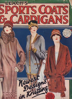 1920s vintage clothing sportswear leachs  knitting pattern book