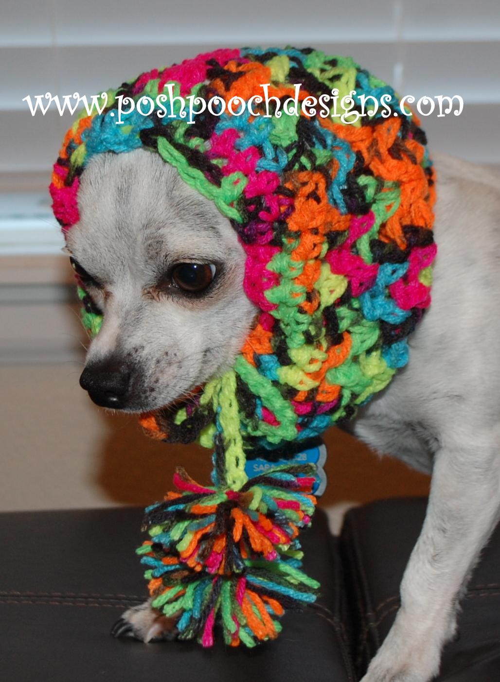 Posh Pooch Designs Dog Clothes: Black Light Cowl Crochet ...